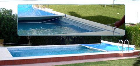 Cubiertas manuales para piscinas cubiertas de piscinas for Como hacer un cubre piscinas